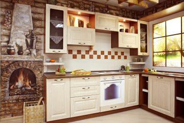 Классическая кухня Кантри светлая