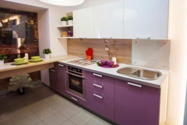 Кухня с барной стойкой Лаванда